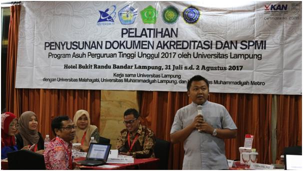 Suasana Pelatihan di Hotel Bukit Randu Bandar Lampung