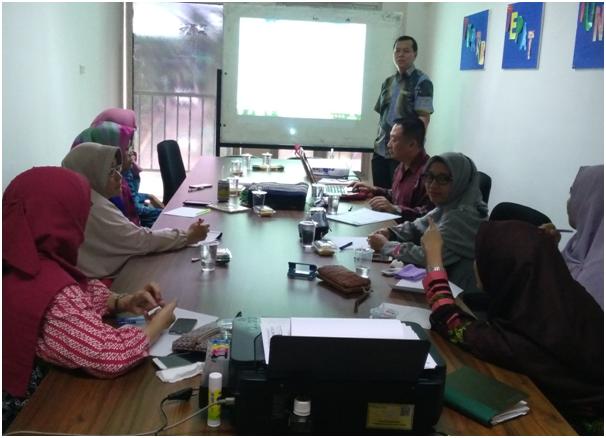 Suasana Rapat Penyusunan Istrumen Audit Internal di Ruang Rapat LPMI Unmal