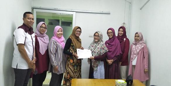 Foto bersama auditor internal bersama pimpinan Prodi Psikologi Unmal, sesaat setelah monev internal